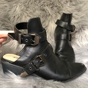 Open back ankle bootie
